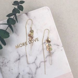 Anthropologie natural stone earrings